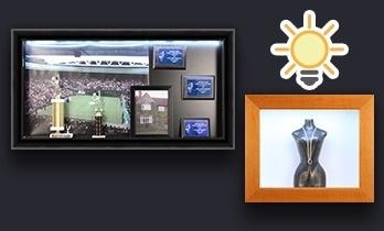 Illuminated Shadow Box Display Case SwingFrames
