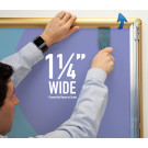 "SwingSnap Snap Frames, Quick Change Poster Display, 1.25"" Wide"