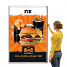 "Fast change extra large poster snap frame shown in portrait with 1 5/8"" frame width"
