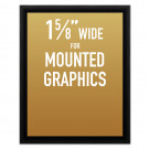 "SwingSnap Snap Frames, Quick Change Poster Display, 1 5/8"" Wide for Mounted Graphics"