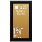 "SwingSnap Snap Frames, Quick Change Poster Display, 1 5/8"" Wide for 10x20 Mounted Graphics"