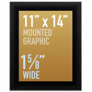 "SwingSnap Snap Frames, Quick Change Poster Display, 1 5/8"" Wide for 11x14 Mounted Graphics"
