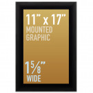 "SwingSnap Snap Frames, Quick Change Poster Display, 1 5/8"" Wide for 11x17 Mounted Graphics"