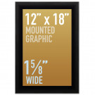 "SwingSnap Snap Frames, Quick Change Poster Display, 1 5/8"" Wide for 12x18 Mounted Graphics"