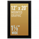 "SwingSnap Snap Frames, Quick Change Poster Display, 1 5/8"" Wide for 12x20 Mounted Graphics"
