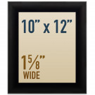 "Snap open 10 x 12 poster frames in 1 5/8"" wide profile"