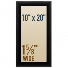 "Snap open 10 x 20 poster frames in 1 5/8"" wide profile"