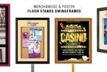 Merchandise & Poster Floor Stands