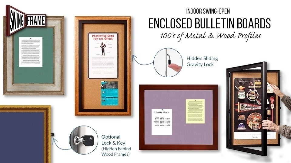 Bulletin Cork Board SwingFrames