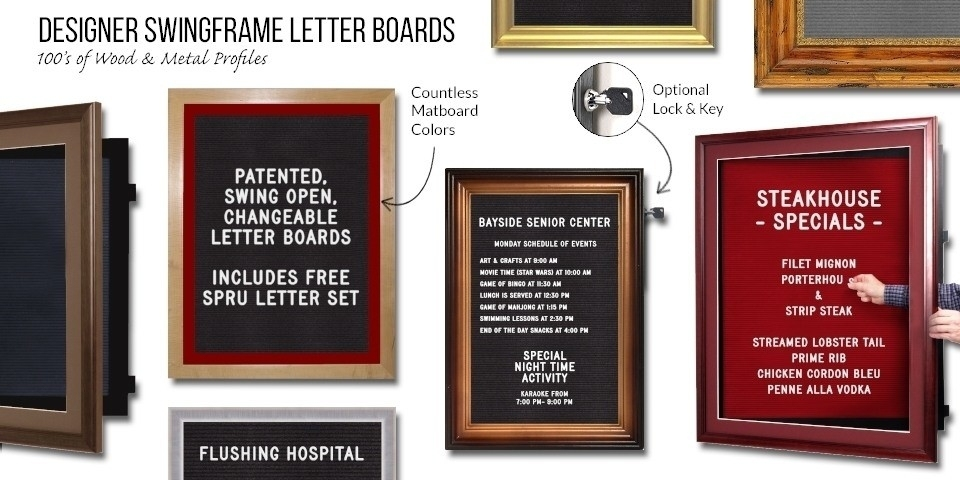 Designer SwingFrame Letter Boards