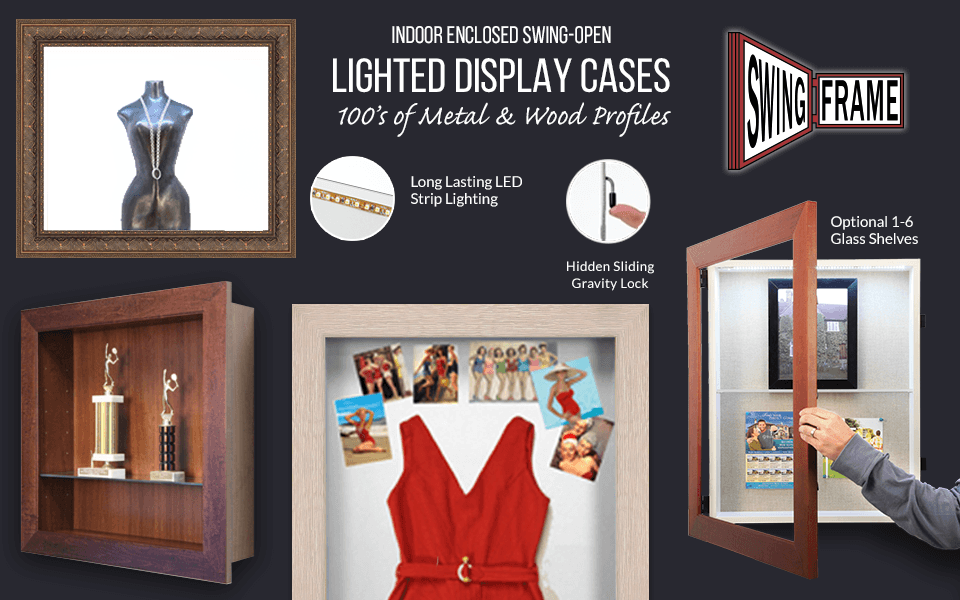 Illuminated Shadow Box Display Case SwingFrames