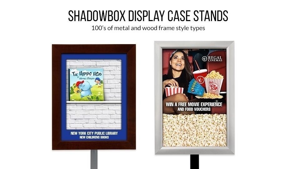 Shadow Box Display Case Stands
