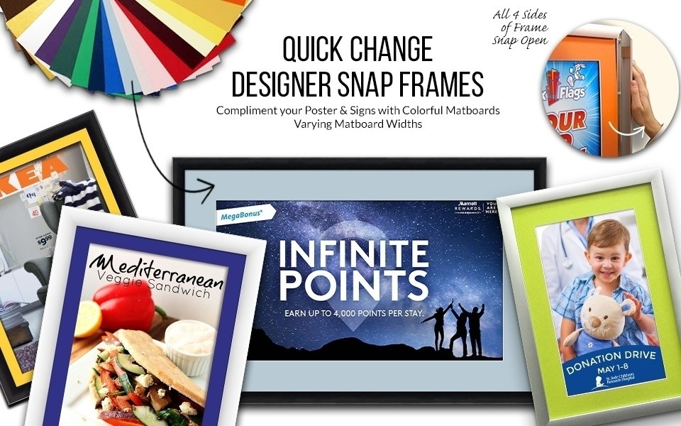 Snap Frames with Colorful Matboards