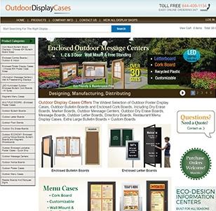 Outdoor Display Cases Website