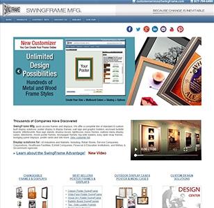 SwingFrame Manufacturing Website